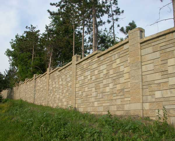 Allan Block Fence Project Sound Barrier For Evergreen