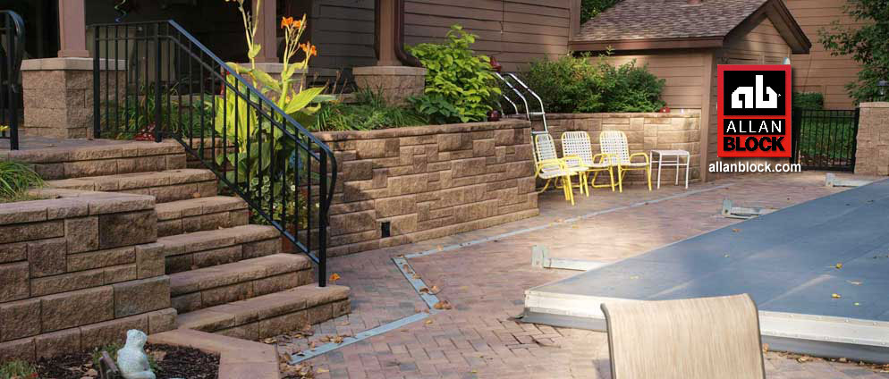 AB Collection Patterned Retaining Wall