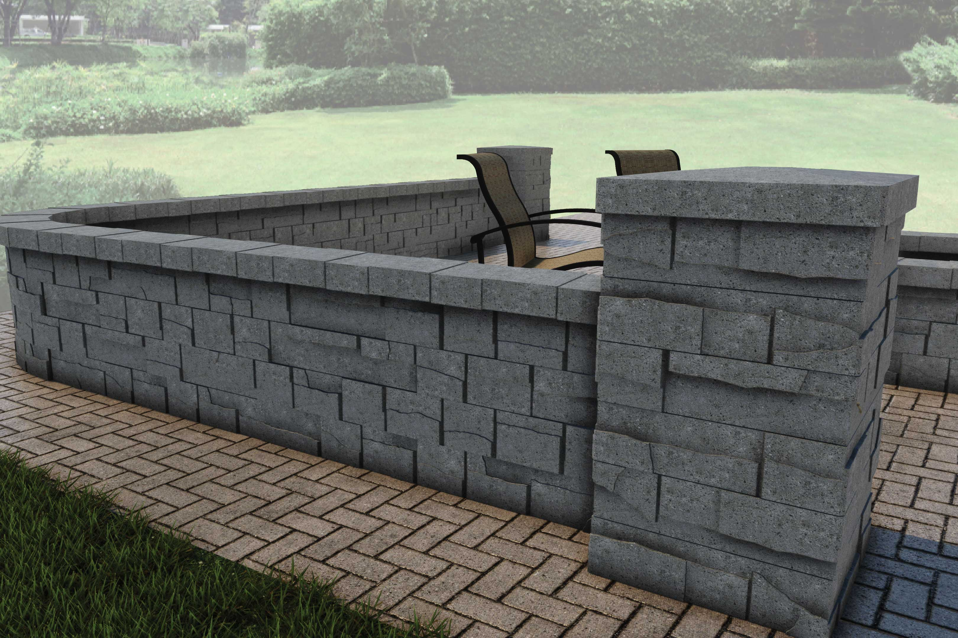 Allan Block Wall Products on Life Outdoor Living Block id=90075
